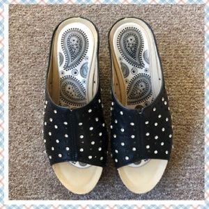 Women's Studded slip on Wedge